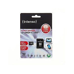 SDHC  8GB SD-Micro Intenso CL10