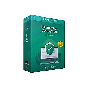 Kaspersky Anti-Virus 2019 1 User Box